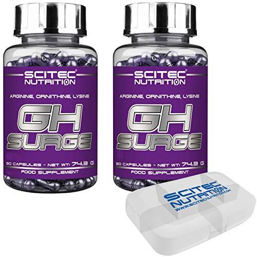 Scitec Nutrition GH Surge 180 capsule AOL Aminoacidi Ornitina Arginina Lisina Tonico + PORTAPILLOLE NUTRILINE