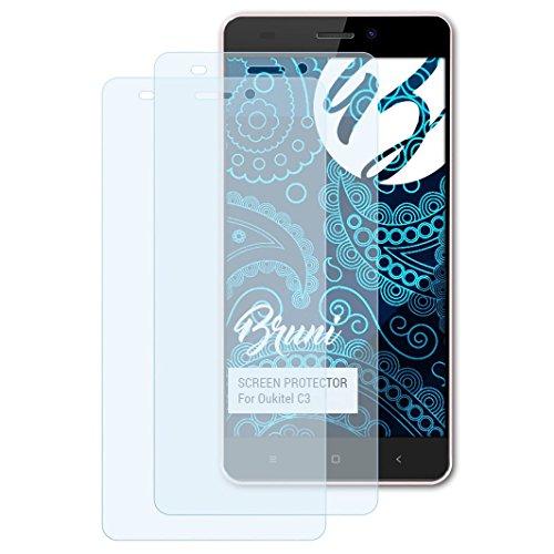 Bruni Schutzfolie kompatibel mit Oukitel C3 Folie, glasklare Bildschirmschutzfolie (2X)