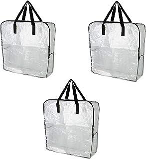 IKEA DIMPA 3 عدد کیسه ذخیره سازی فوق العاده بزرگ ، کیسه های پاک کننده سنگین ، کیسه های ذخیره سازی رطوبت پروانه