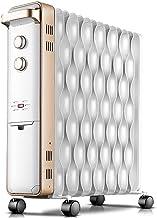 JIEZ Calentador eléctrico Calentadores de Aceite de radiador eléctrico doméstico,14 Piezas de áreas Grandes para Calentar,Ahorro de energía y Calentamiento rápido