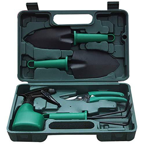 Unknow Ensemble d'outils de Jardin, 5 pièces d'outils de Jardinage légers Kit Cadeaux avec boîte de Rangement, Pelle, sécateur, Herse, pulvérisateur d'eau
