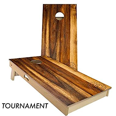 Treated Oak Cornhole Board Set 4' by 2' Tournament size