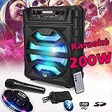 Enceinte SONO DJ MyDJ ECHO07 Autonome Batterie Mobile à LED - 200W 8' - USB/SD/Bluetooth + Micro + Jeu Light UFO OVNI