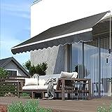 Froadp - Toldo de brazo articulado de aluminio, protección solar, impermeable, anti UV, para balcón, terraza