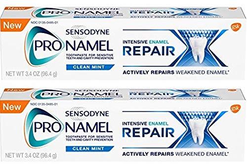 Sensodyne ProNamel, Clean Mint, Intensive Repair 3.4 Ounce (Pack of 2) -  Glaxo Smith Kline