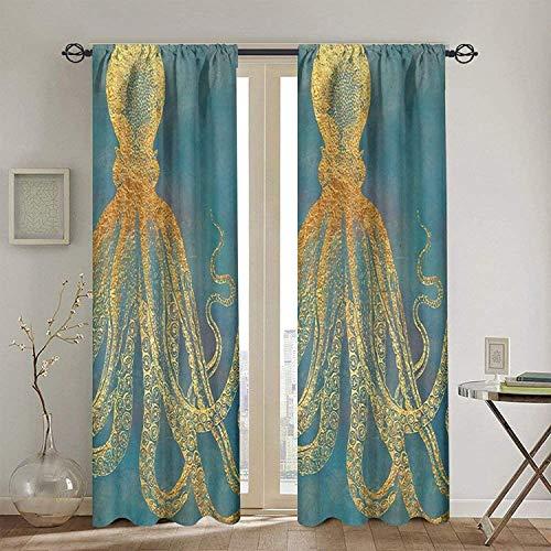 BONRI Cortina aislada, ventana cubre árbol, cortinas de cortina calcomanías, baño marroquí con impresión de azulejos, par