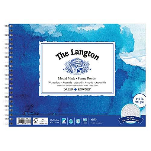"Daler Rowney Langton WC Spiral Pad 140lb RGH 12x9"" 12s (Pad)"