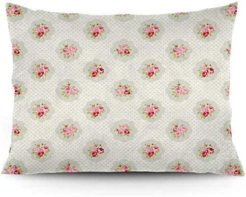 Keyboard cover Romantic English Roses Love and Affection Polka Dot Background Printed Cushion Cover 16'x24'