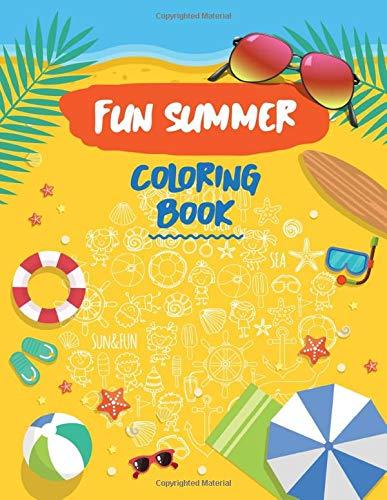 Fun Summer Coloring Book: Coloring The Beach