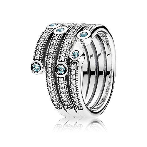 Pandora 191002czf-50 Shimmering Ocean Ring by Unknown