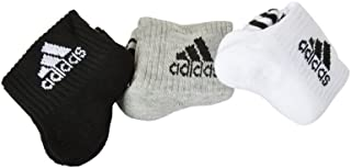 adidas Unisex Ankle Grip Standard Socks (Unisex_Black) (3 Pack)