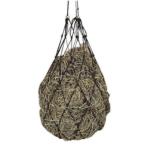 Kerbl Heunetz Heuraufe Beschäftigungsnetz Heusack Futternetz, Maschen 10 x 10 cm, Schwarz