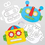 """Baker Ross Masken zum Ausmalen """"Roboter"""", für Kinder Kunsthandwerksprojekte (8 Stück), AT679"""