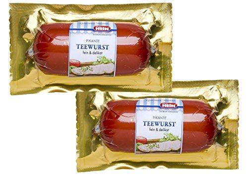 Feine Teewurst, pikante Streichwurst / 125g in der Vakuumverpackung von Dieter Hein