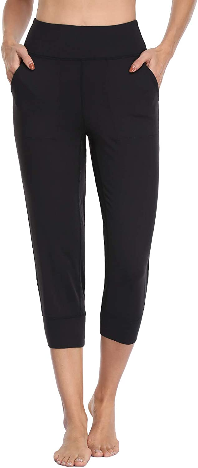 MOVE Limited time cheap sale BEYOND Women's Buttery Soft Yoga 4 Capri Same day shipping Pockets Hi Joggers