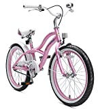 "BIKESTAR Bicicleta Infantil para niños y niñas a Partir de 6 años | Bici 20 Pulgadas con Frenos | 20"" Edición Cruiser Rosa"