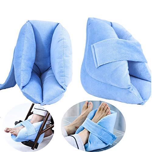 La almohadilla para el cuidado del talón protege el talón contra la esponja de alta densidad que se inclina - Ayuda al reposo en cama a largo plazo para prevenir la hiperplasia de las escaras,2Pcs