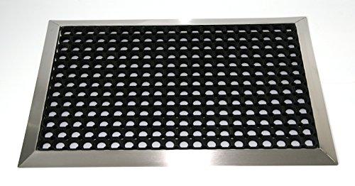 Edelstahlrahmen mit Fußmatten, Ringgummi-Matte 900x600 mm, Gr. 2, Marke: Szagato (Fußabtreter, Türmatte, Schmutzfangmatte, Gummi)