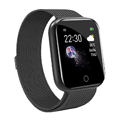 Reloj Inteligente Ydh I5, monitorización de la presión Arterial, frecuencia cardíaca, Reloj de Pulsera Resistente al Agua, Pulsera Deportiva, Cargador de Reloj Inteligente