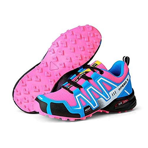 JYMEI Zapatos para Caminar, Hombres Mujeres Zapatos para Caminar Calzado Deportivo Transpirable De Tiro Bajo Parejas Botas De Montaña Ligeras para Exteriores Botas para Caminar,Azul,42