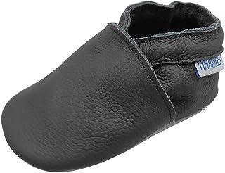YIHAKIDS Souple Chaussures De Bébé Enfant Chaussons Cuir Chaussures Filles Garçons Premiers Pas 0-6 Mois - 2Ans