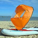 Vela pieghevole per kayak, 42 pollici, con finestra trasparente a remi, resistente e con borsa per kayak/canoe/barche gonfiabili