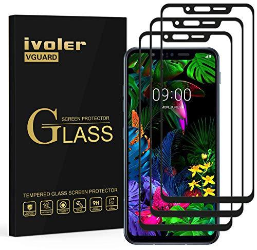 VGUARD 3 Stücke Panzerglas Schutzfolie für LG G8s ThinQ, [Volle Bedeckung] Panzerglasfolie Folie Hartglas Gehärtetem Glas BildschirmPanzerglas für LG G8s ThinQ