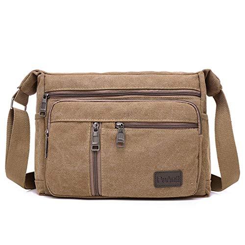 N-B Shoulder Bag Men's Travel Bag Canvas Casual Men's Shoulder Messenger Bag Outdoor Bag Men's Travel School Retro Zipper Shoulder Bag