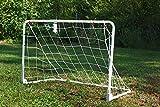 POWERSHOT Mini Fußballtor aus Stahl - weiß pulverbeschichtet - klappbar - WETTERFEST - versch. Größen zur Auswahl - PERFEKTES FUßBALLTOR Garten (150 x 100 cm)