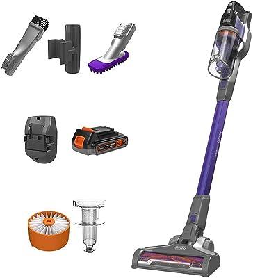 BLACK+DECKER Powerseries Extreme Cordless Stick Vacuum Cleaner for Pets, Purple (BSV2020P)