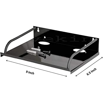 Avekin® Super Quality Dish tv Stand- Wall Mount Stand/WiFi Router Stand, Color : Black (Ideal for All Type of Set Top Box)