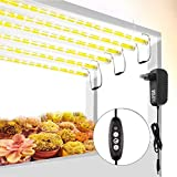 Plant Grow Light Strips, Roleadro T5 LED Growing Light Full Spectrum for Indoor Plants with Auto On/Off Timer, Plant Grow Lamp Bar for Seedling with Extension Cables, 3 Switch Modes 4 Dimmable Level