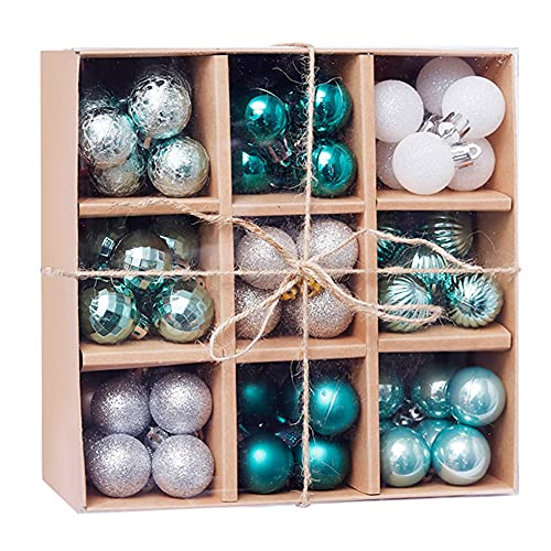 Gyuzh Christmas Tree Balls 99pcs,Christmas Ball Ornaments Shatterproof Green Blue Red Gold White Christmas Tree Balls for Holiday Wedding Party Christmas Decoration(3cm/1.18inch)