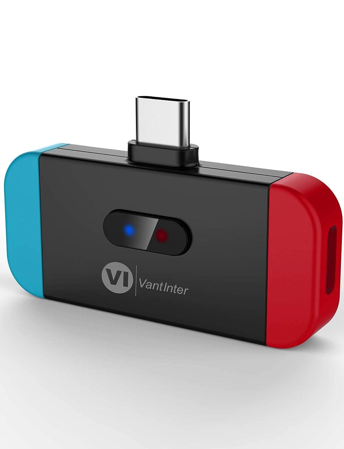 豊富洋服薬剤師VantInter 充電不要ドライバー不要 Nintendo Switch bluetooth オーディオアダプター USB-C Bluetooth トランスミッター 2台同時接続でも aptX LL BT4879