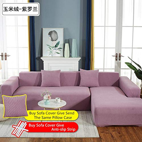 XCVBSofa stof Stretch L-vormige Sofa Cover Chaise Longue Sofa Cover sectionele hoes hoekbank Cover L vorm elastisch, 8
