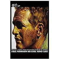 Kyasdp 古典的なクールな手Luke映画ポールニューマン非国教徒のポスター家の装飾のための絵画キャンバスに印刷-50X70Cmフレームなし
