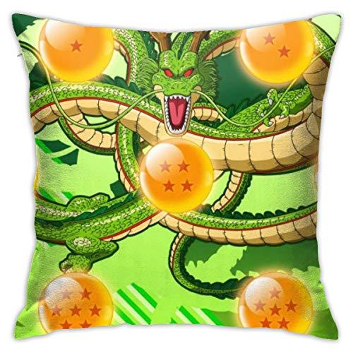 CVDGSAD Funda de almohada Dragon Ball Z Anime Dragon Dragón 18' x 18' Premium calidad funda de almohada funda de almohada