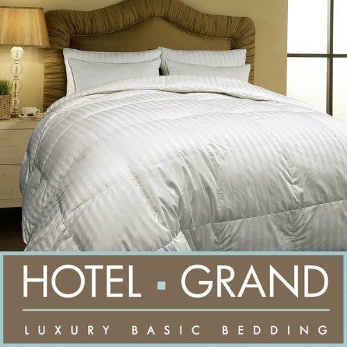 Hotel Grand Oversized 500 Thread Count All-Season Siberian White Down Comforter-Full/Queen.