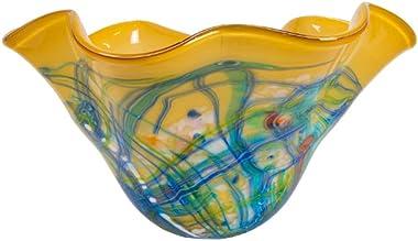 Dale Tiffany Lamps Dale Tiffany Viola Hand Blown Art Glass Bowl, Multi-Colored, Multicolor
