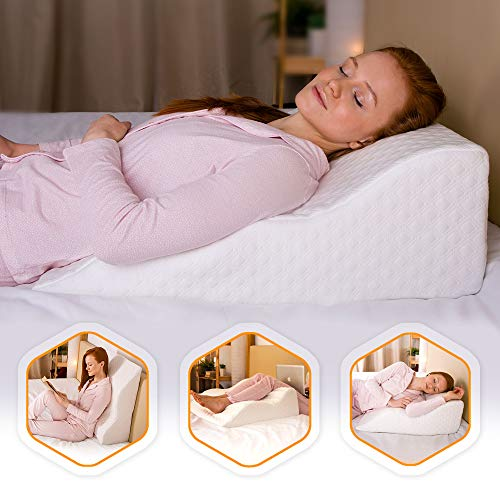 AERIS Wedge Pillow for Acid Reflux -%100 Memory...
