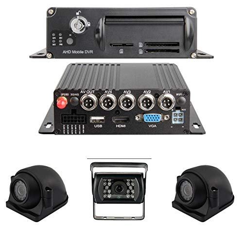 Buy New 1080P MDVR Blackbox 3-4 Cam DVR System with GPS for Truckers and Fleets (with 3 Cameras / 7 ...