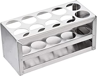 uxcell Stainless Steel Test Tube Holder Rack 10 Hole 3 Layer for 26-30mm Tubes