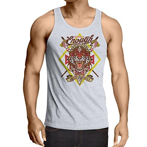 Camisetas de Tirantes para Hombre Nada es Suficiente: entra en lo Salvaje: Ropa Urbana, Swag, Hippie, Estilo Hipster (Large Blanco Multicolor)
