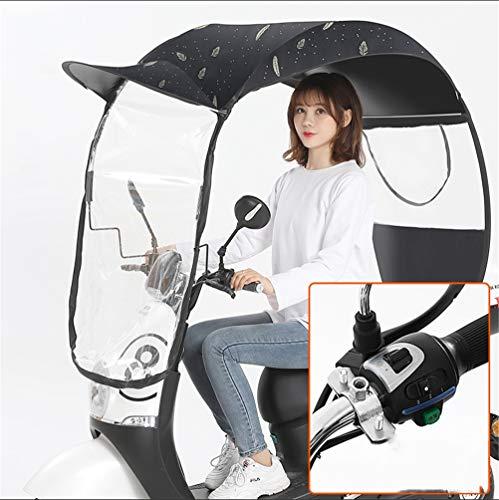 GFYWZ Ombrello Impermeabile Universale del Motociclo del Motorino del Motore della Copertura di Pioggia Dell'ombrello del Parasole Dell'ombrello del Motociclo,1,A