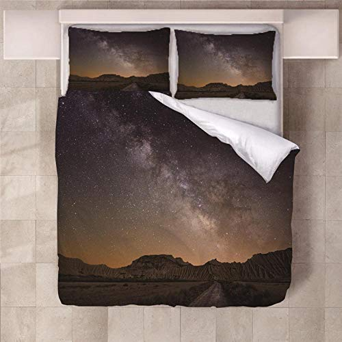 PERFECTPOT Duvet Cover Set King Size Xinghe The Sea Bedding Set with Zipper Closure Hypoallergenic Microfiber Quilt Cover Sets 230 x 220 cm with 2 Pillowcases 50x75cm