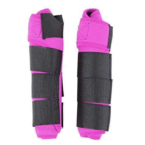 GCSEY Pferd Leg Stiefel Pferd Gamaschen 1 Paar Adjustable Reiter Hartschalengamaschen Pferd Splint Bein Boot Protection-Stützverpackungs-Reiterausrüstung,Rosa