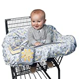 Boppy Shopping Cart and Restaurant High Chair Cover, Sunshine/Gray