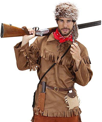 Widmann-CS922632/M Déguisement-Costume Trappeur, 11003040, Taille M