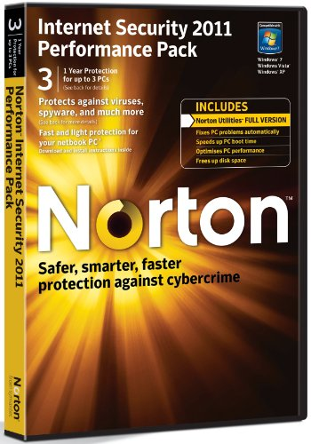 Norton Internet Security 2011 Performance Pack, 3 Computers, 1 Year Subscription (PC) [import anglais]