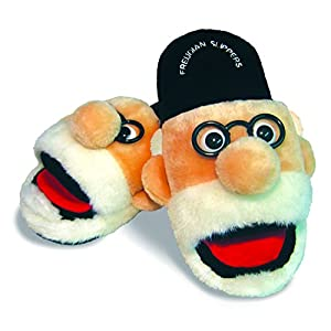 Freudian Slippers – Comfy Plush Slip – On Footwear – Size Medium Black